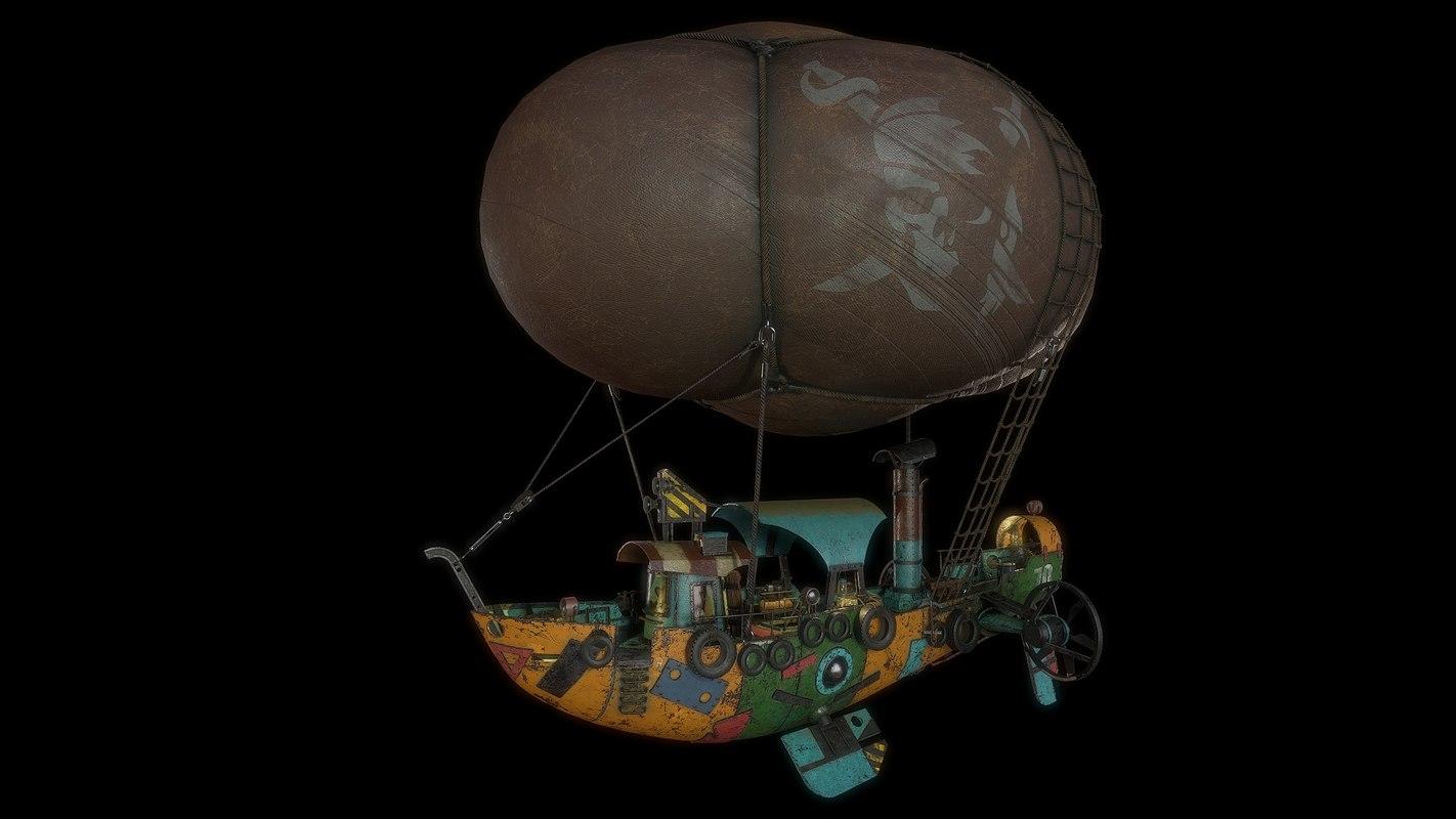 airship steampunk 3D model