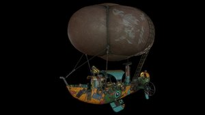 airship steampunk 3D model