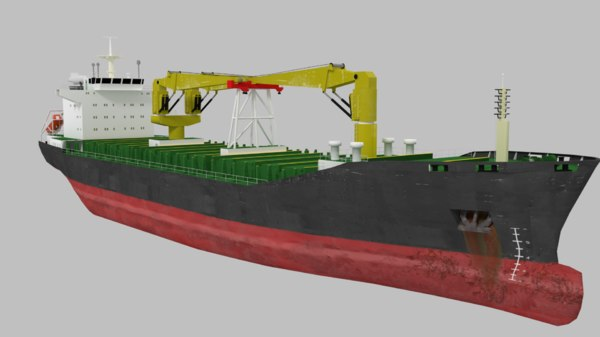 bulk carrier ship 3D