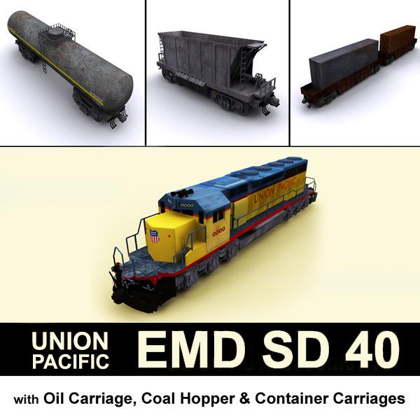 3D union pacific emd sd
