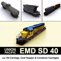 3D union pacific emd sd