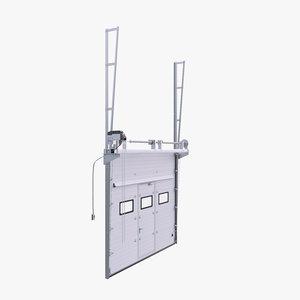 3D model vertical sectional garage door