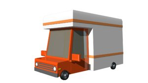 3D model moving truck