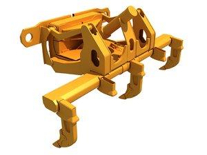 3D excavator fork bucket model