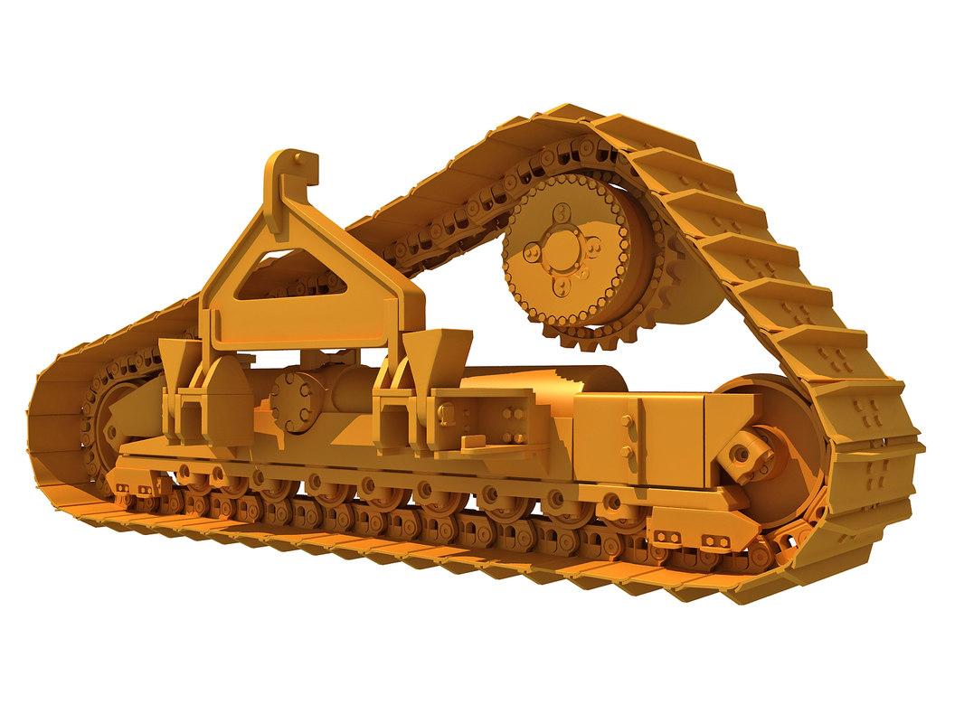 3D excavator track model