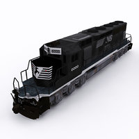norfolk southern emd sd 3D