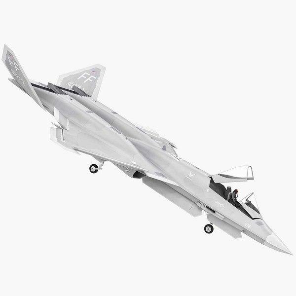 yf-23 black widow 2 3D model
