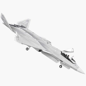 yf-23 black widow 2 3D model