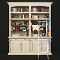 Bookcase with Ladder in White. AMANDINE. Maisons du monde.