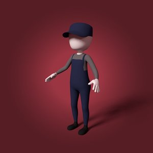 3D cartoon mechanic
