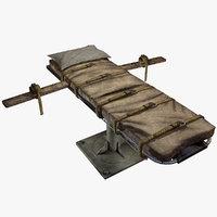 3D bed straps model