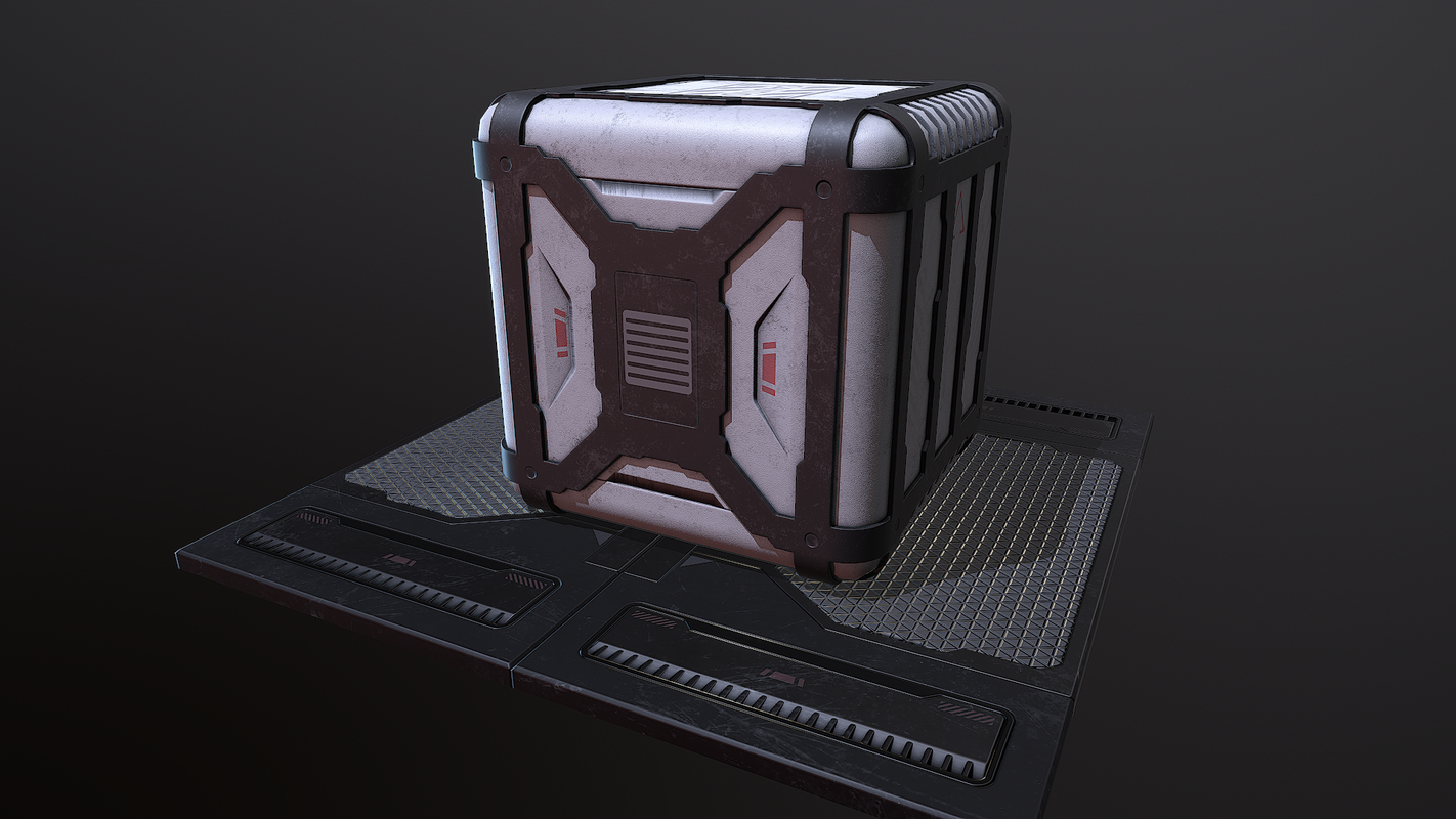 sci-fi container 3D