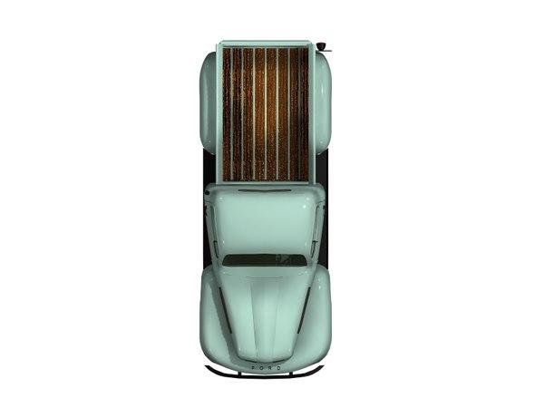 f1 pickup 1950 3D model