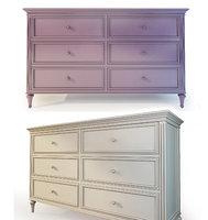 dresser Riverdi.  The Werby. Purple and beige