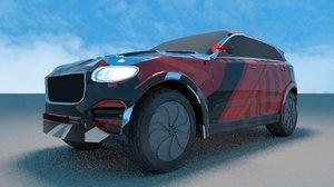 3D modify car model
