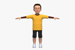 3D boy t shirt model