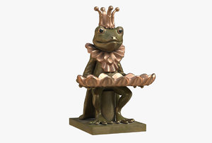 3D figurine frog dish