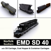 3D norfolk emd sd 40