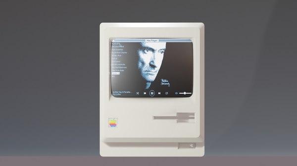 1984 classic computer 3D model