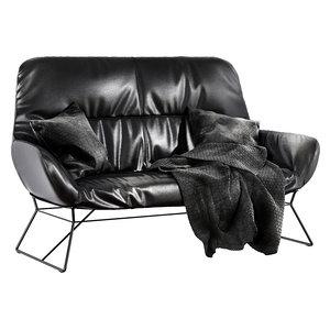 3D freifrau leya lounge couch