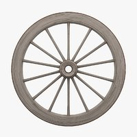 old wagon wheel 3D model