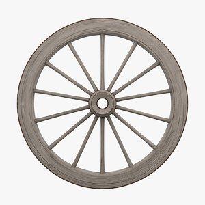 old wagon wheel 3D model