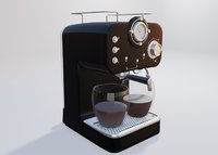 3D espresso coffee maker model