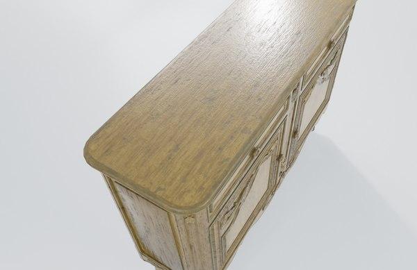 3D carved door console antique furniture