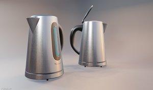 electric kettle kitchen appliance 3D