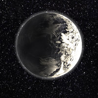 Planet with ice ocean