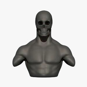 3D skull man human model