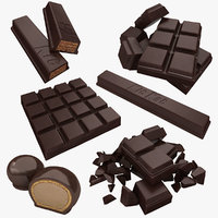 3D model chocolate dark
