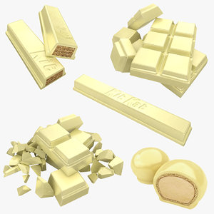 chocolate white 3D model