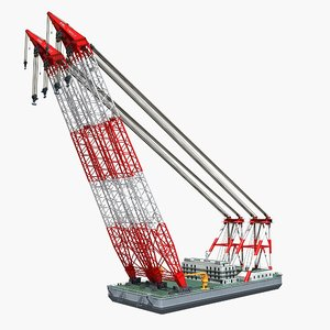 floating crane 1 3D model