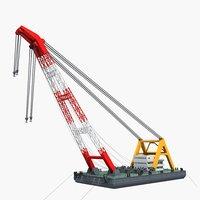 floating crane 2 3D model