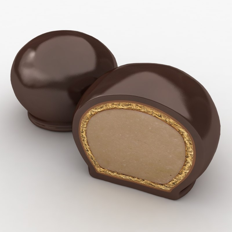 3D model chocolate dark
