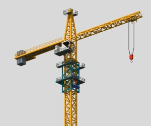 3D model voxel tower crane vox
