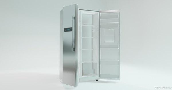 double door fridge home 3D