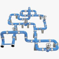 pipe pipeline industrial 3D