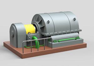 industrial turbocharger 3D