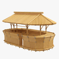Bamboo tiki bar furniture
