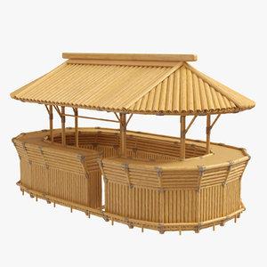bamboo bar 3D model