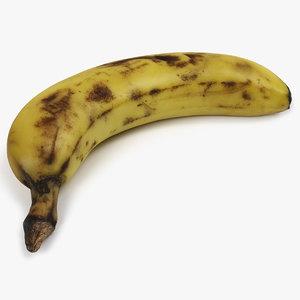 realistic banana 01 3D model