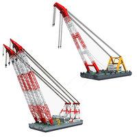 3D floating cranes model