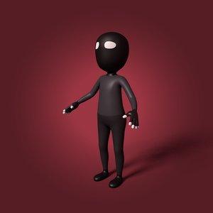 3D cartoon terrorist