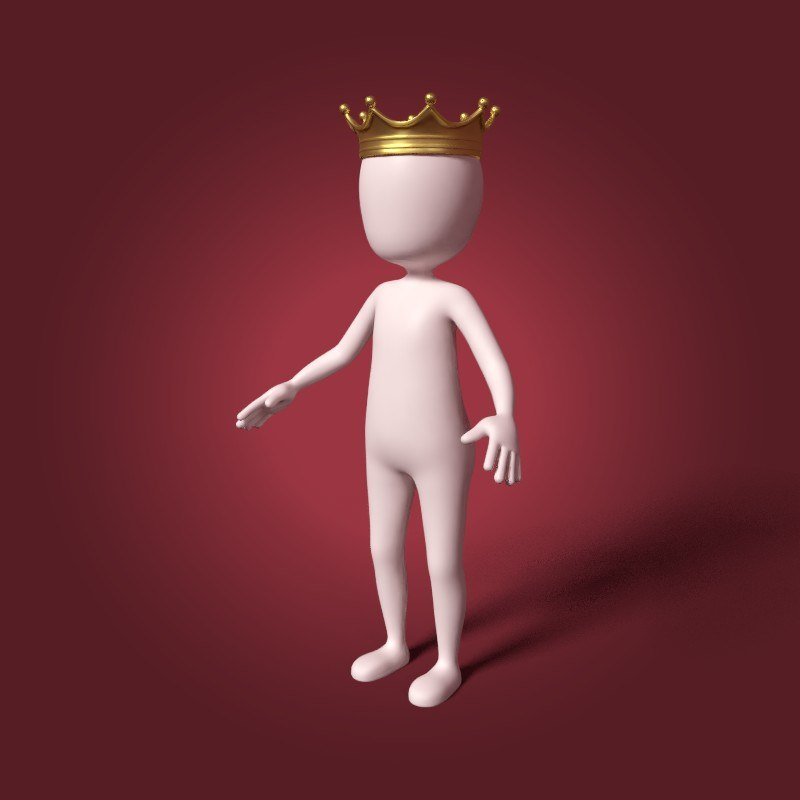 3D cartoon king model