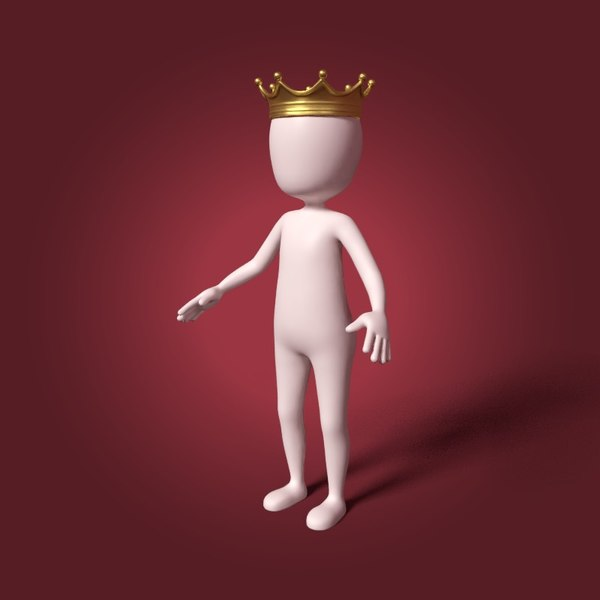 3D cartoon king model