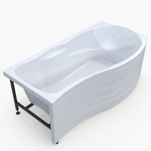 3D model modern bathtub 03