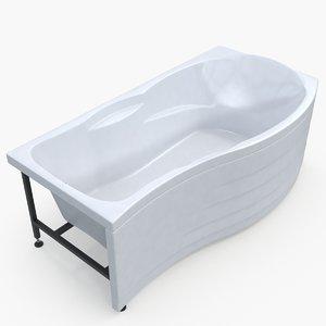3D model modern bathtub 03