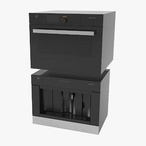 v-zug combi xsl microwave oven 3D model